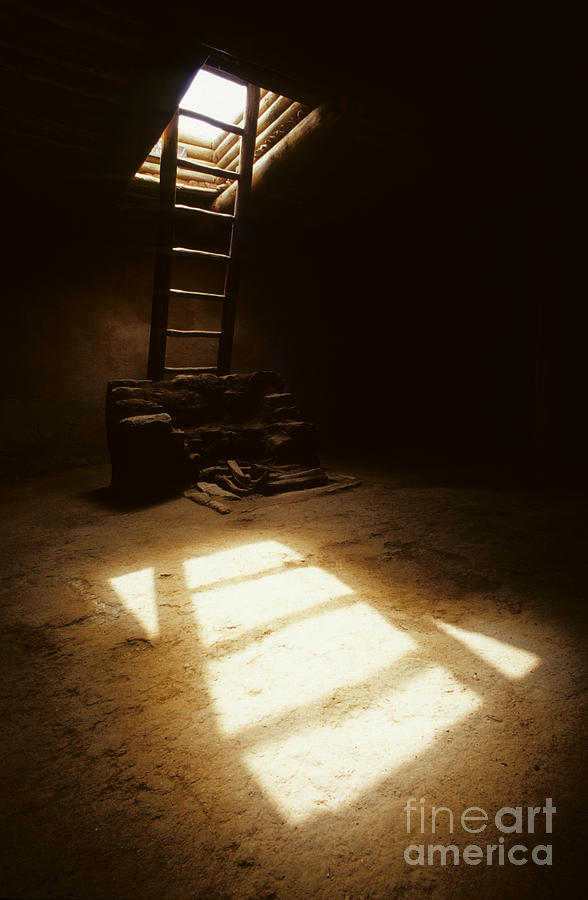 Of Light And Shadow Pecos Ruin Photograph  - Of Light And Shadow Pecos Ruin Fine Art Print