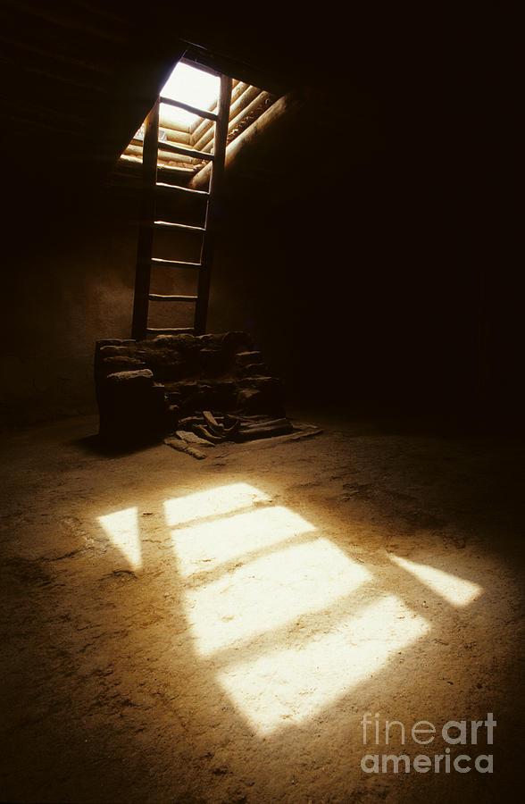 Kiva Photograph - Of Light And Shadow Pecos Ruin by Bob Christopher
