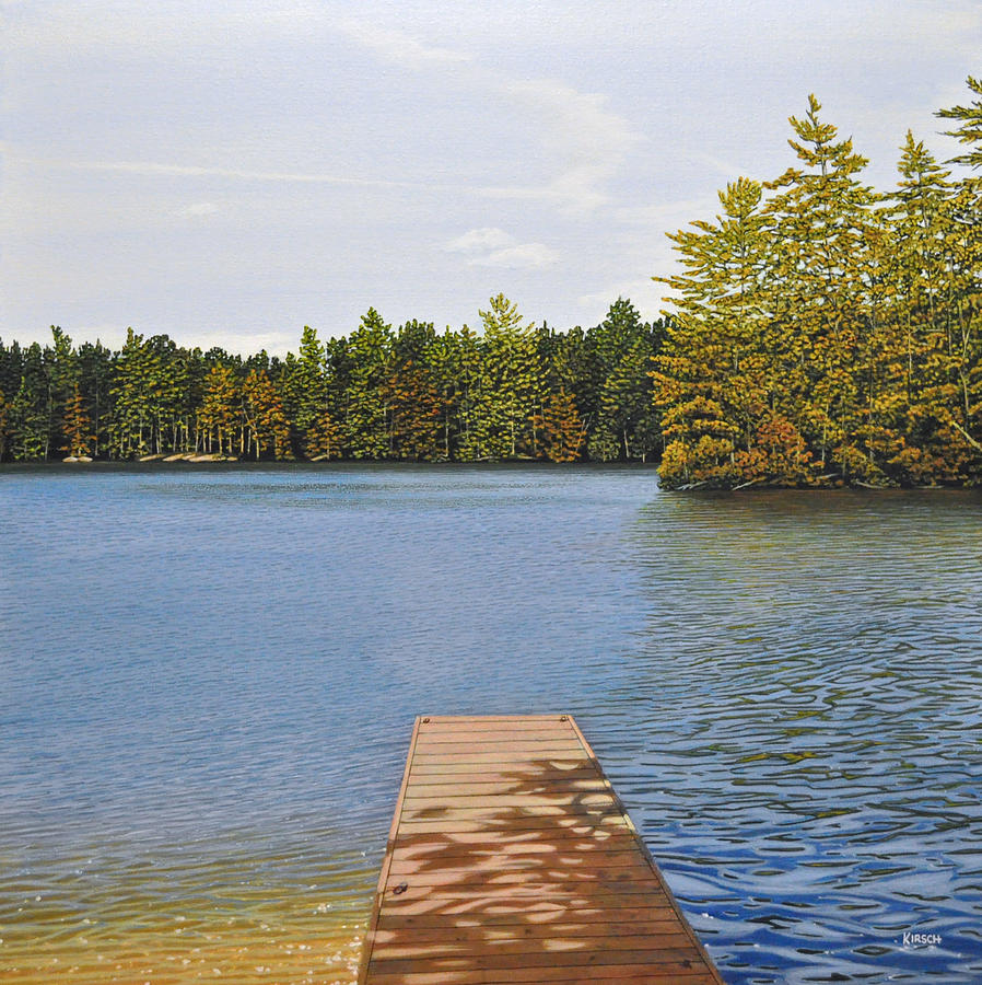 Off The Dock Painting  - Off The Dock Fine Art Print