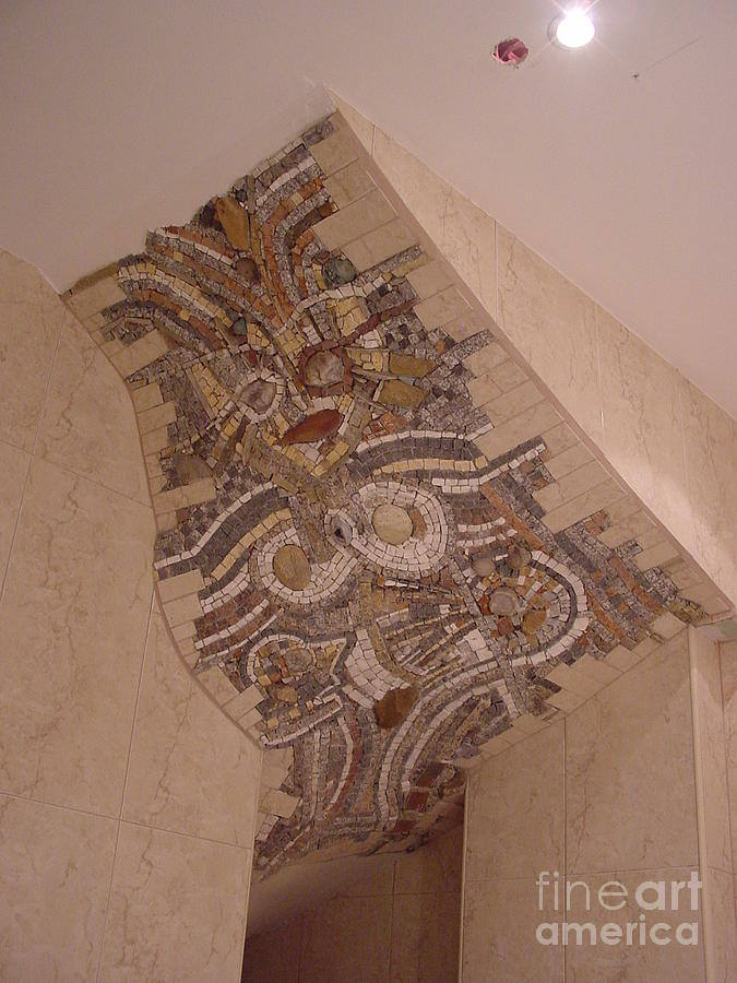 Stone Relief - Office Mosaic On The Roof by Nikolay Ilchevski