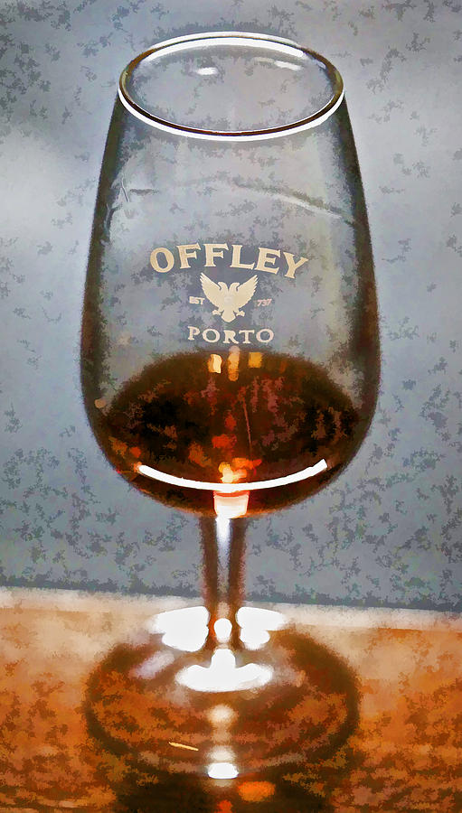 Offley Port Wine Glass Photograph  - Offley Port Wine Glass Fine Art Print