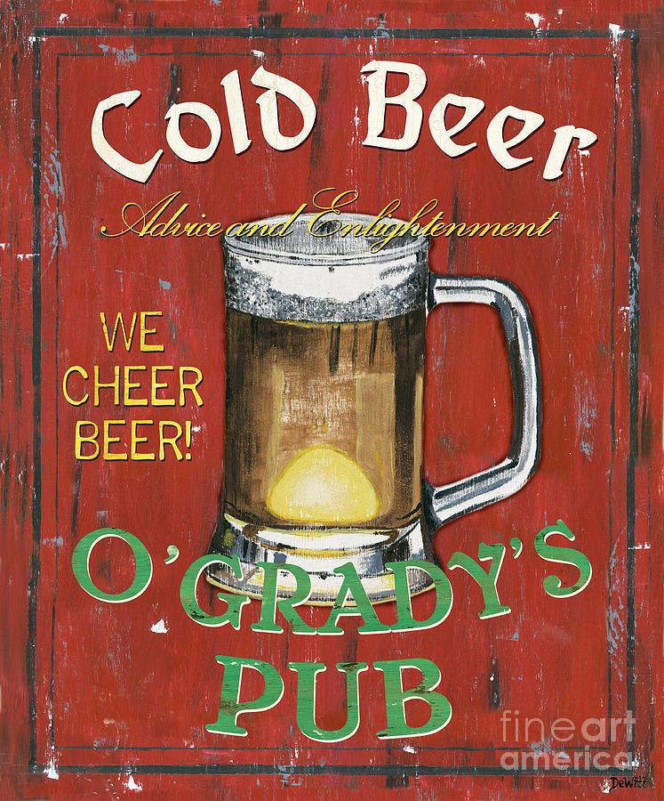 Pub Painting - Ogradys Pub by Debbie DeWitt