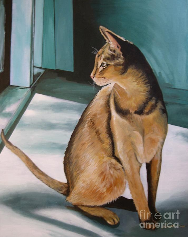 Oh Beautiful House Cat Painting  - Oh Beautiful House Cat Fine Art Print