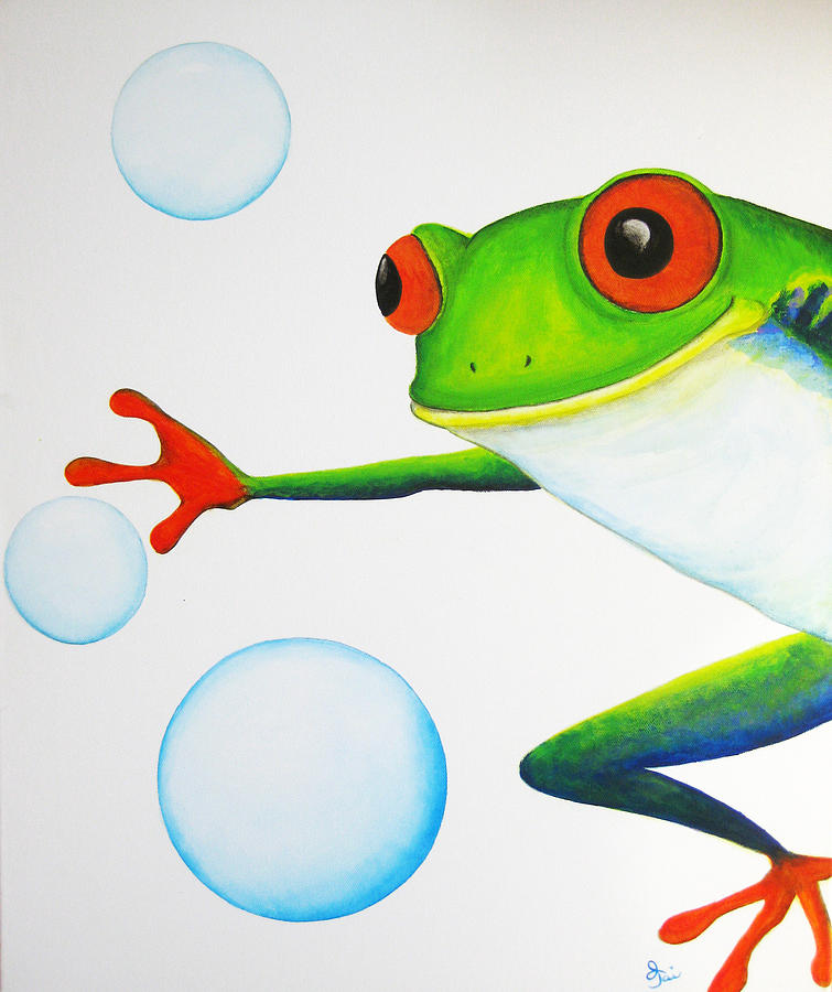 Oh Bubbles Painting  - Oh Bubbles Fine Art Print