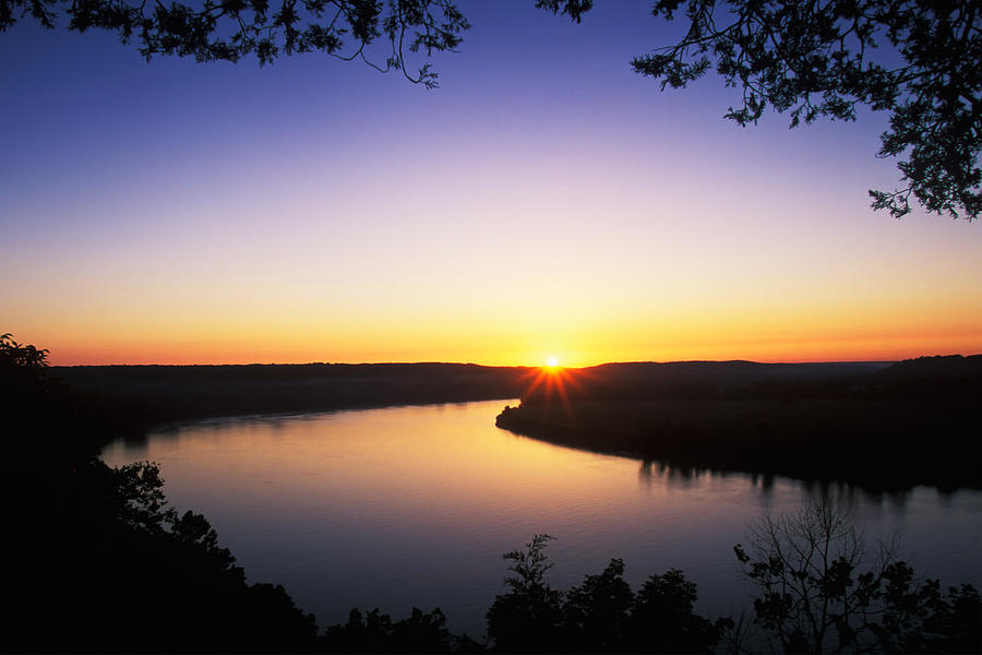 Ohio River At Sunrise Photograph  - Ohio River At Sunrise Fine Art Print