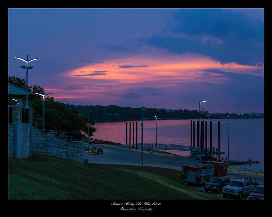 Ohio River Sunset Photograph  - Ohio River Sunset Fine Art Print