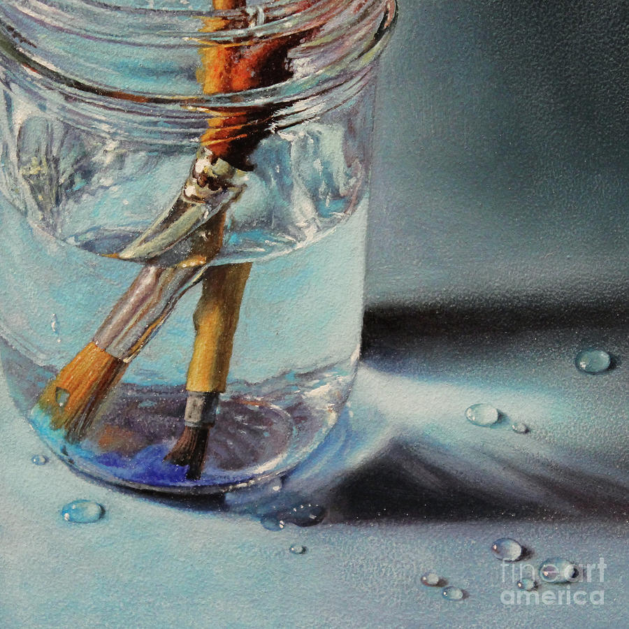 Oil And Water Painting by Lisa Ober