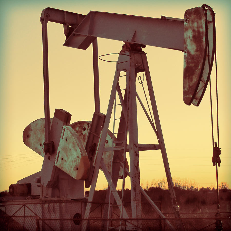 Oil Photograph - Oil Pump by Tony Grider