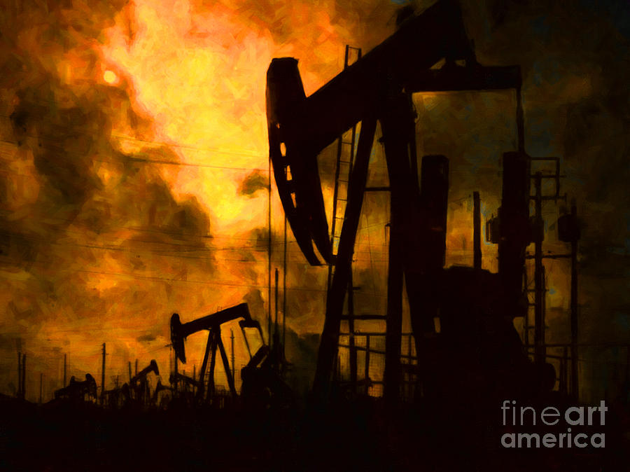 Oil Pumps Photograph  - Oil Pumps Fine Art Print