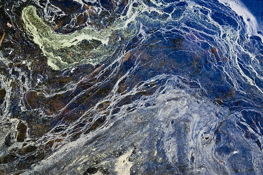 Oil Spill Abstract Photograph