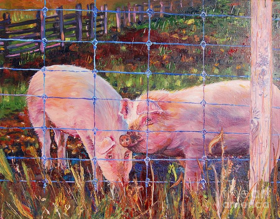 Oink oink painting by henny dagenais for Henny and paint