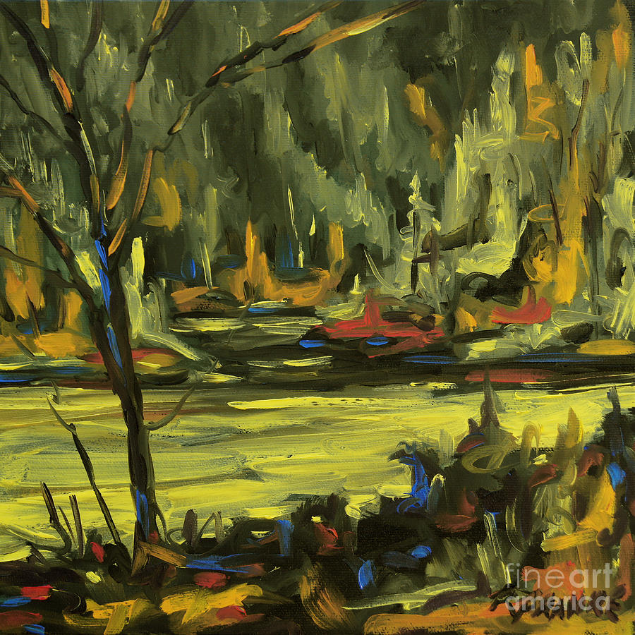 Okanagan Highlights By Prankearts Painting  - Okanagan Highlights By Prankearts Fine Art Print