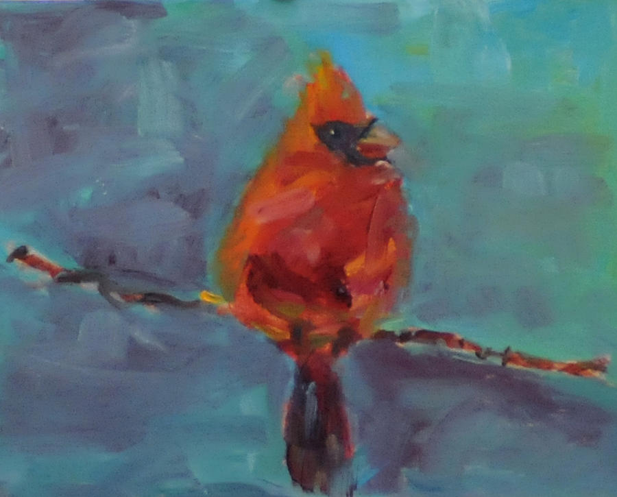 Bird Painting - Oklahoma Cardinal by Susie Jernigan