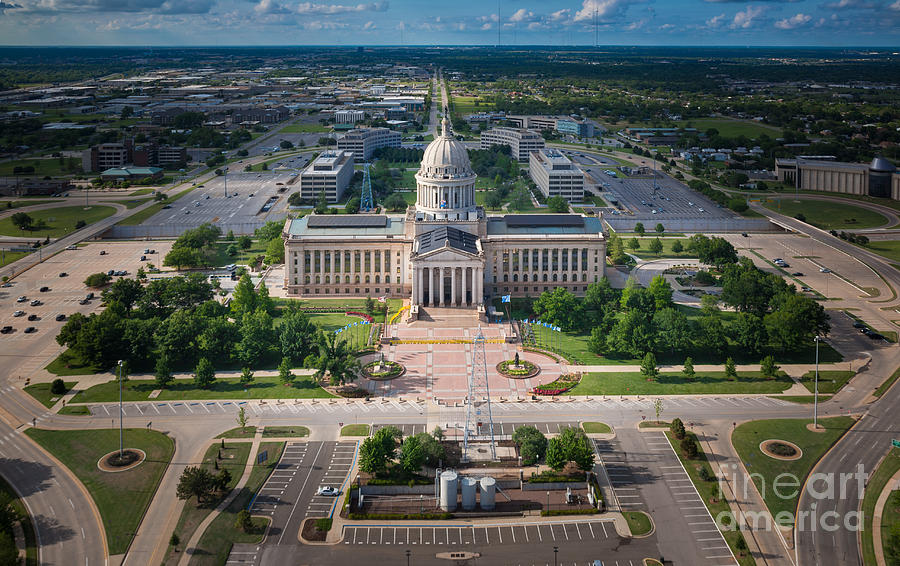 Oklahoma City State Capitol Building A Photograph
