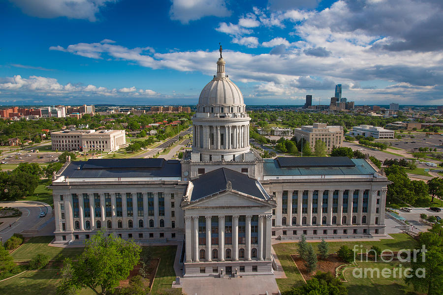 Oklahoma City State Capitol Building B Photograph
