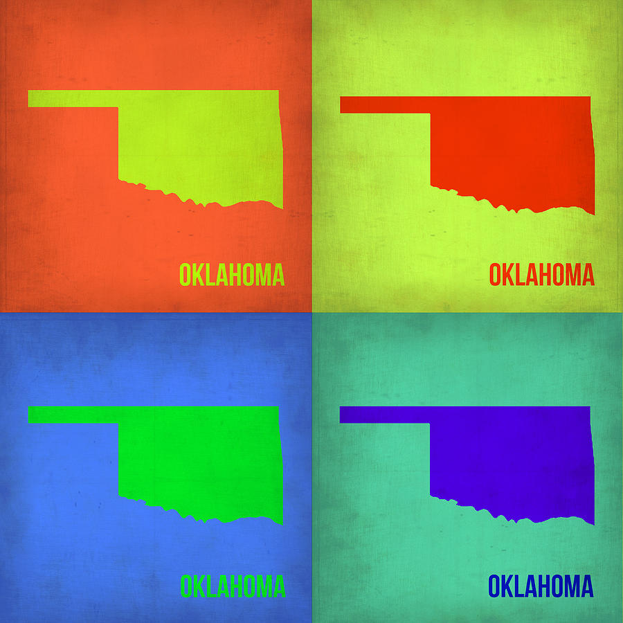 Oklahoma Pop Art Map 1 Painting