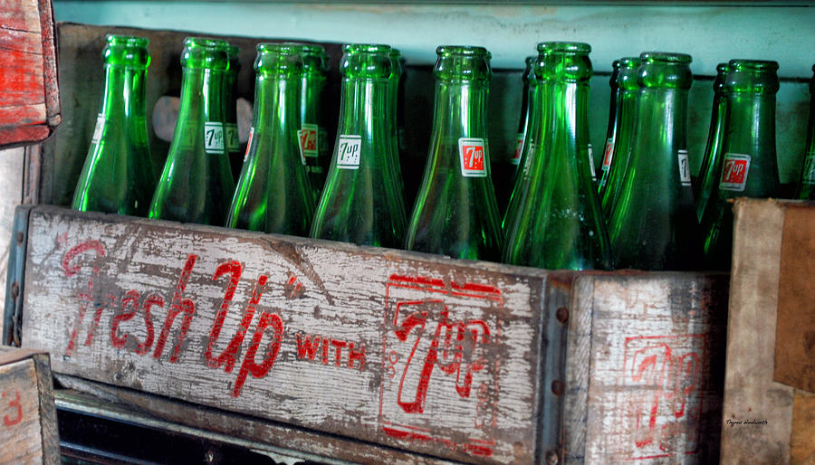 Old 7 Up Bottles Photograph