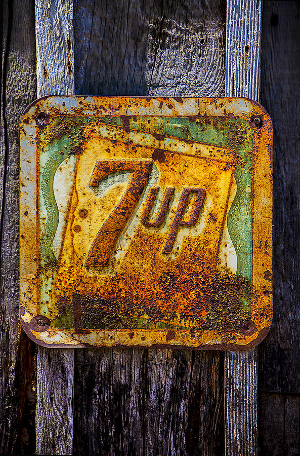 Old 7 Up Sign Photograph - Old 7 Up Sign by Garry Gay