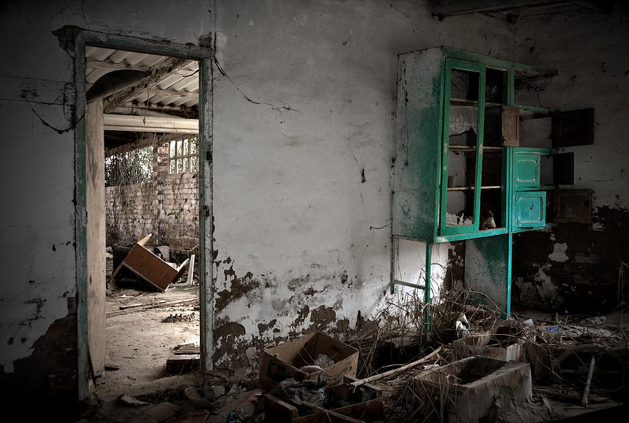 Old Abandoned Kitchen Photograph