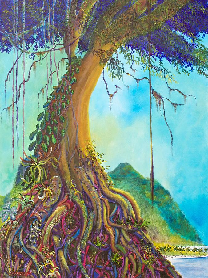 Banyan Tree Painting Old Banyan Tree Painting
