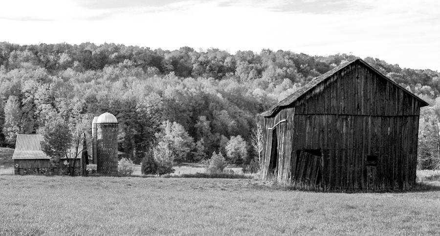 Old Barn And Silo Photograph by Optical Playground By MP Ray