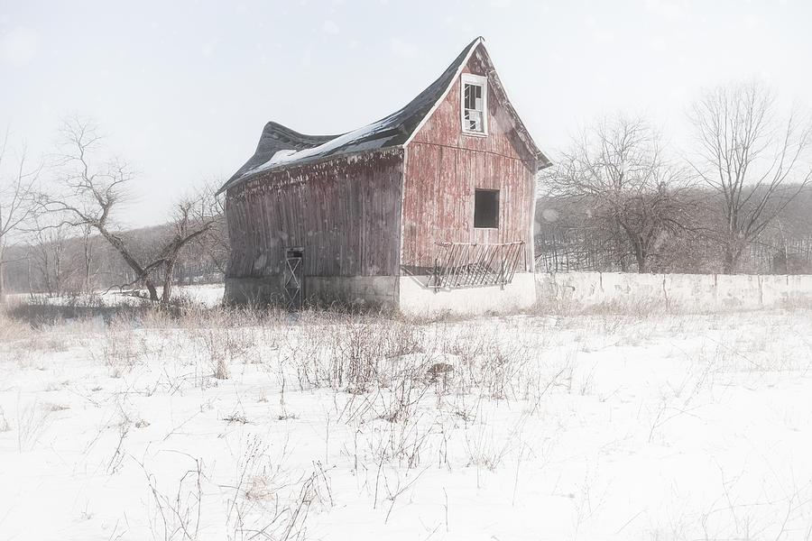 Old Barn Photograph - Old Barn - Brokeback Shack by Gary Heller