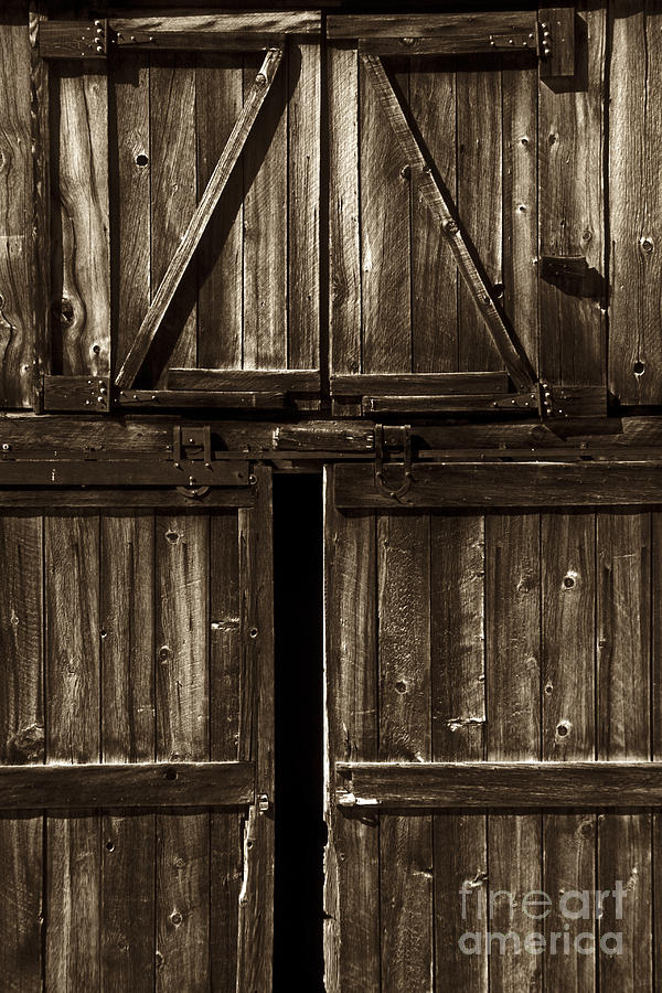 Old Barn Door - Toned Photograph