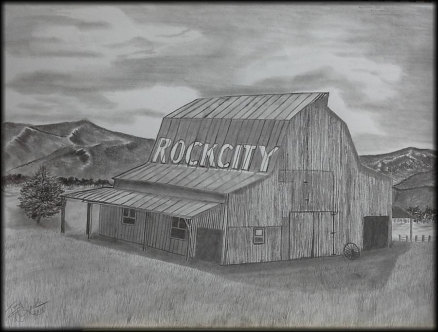 Old Barn II Drawing