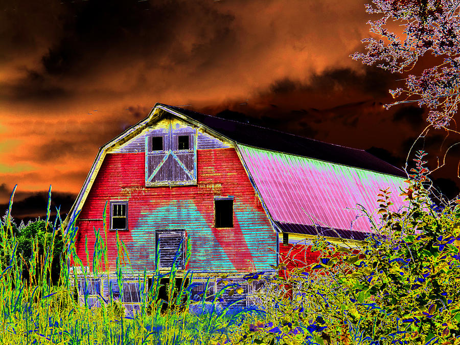 Old Barn Digital Art  - Old Barn Fine Art Print