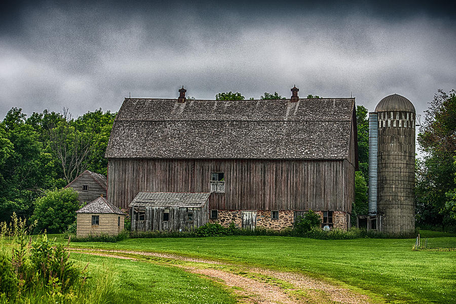 Barn Photograph - Old Barn On A Stormy Day by Paul Freidlund