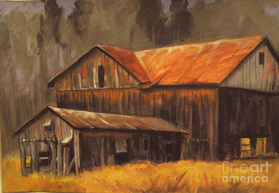 Old Barns Painting  - Old Barns Fine Art Print