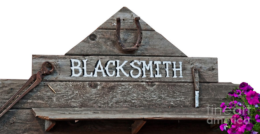 Old Blacksmith Sign  Photograph