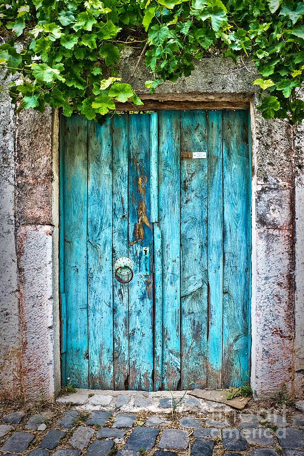 Old Blue Door Photograph