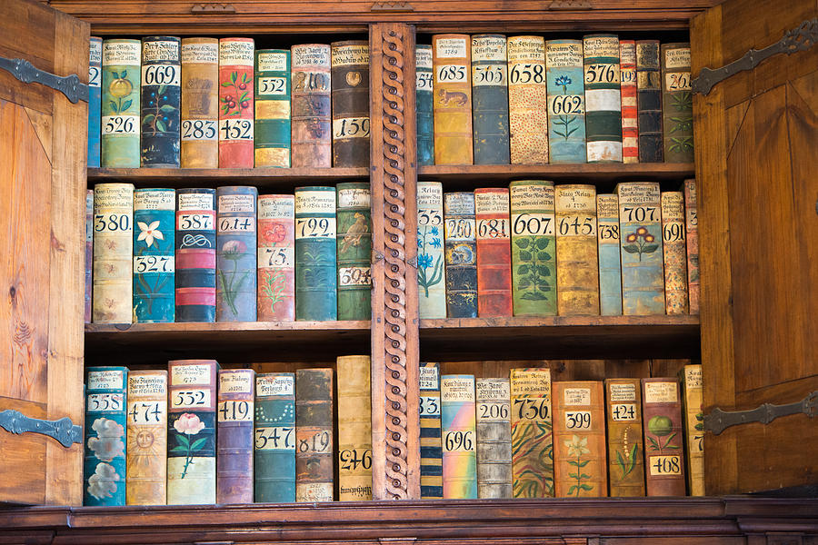 Old Books In Prague Photograph