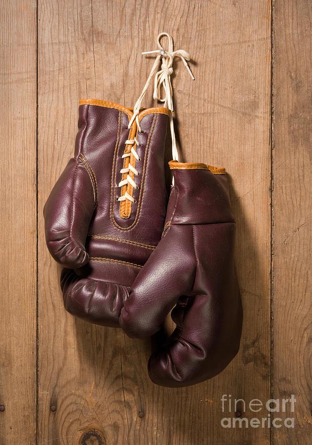 Old Boxing Gloves Digital Art