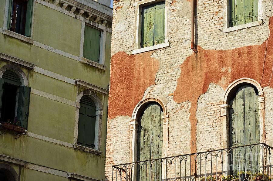 Old Buildings Facades Photograph