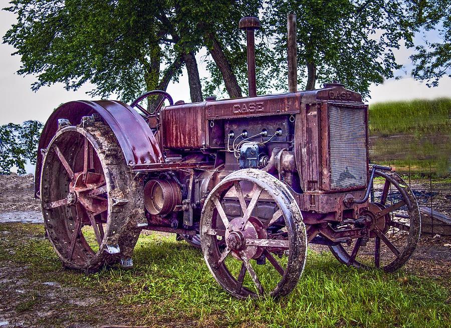 Case Gas Tractor : Old case gas tractor photograph by f leblanc