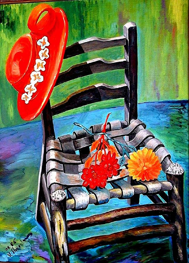 Old Chair Painting  - Old Chair Fine Art Print