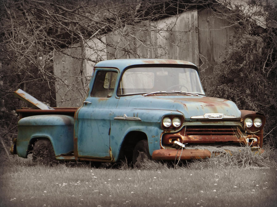 Old chevy truck photograph by brenda conrad