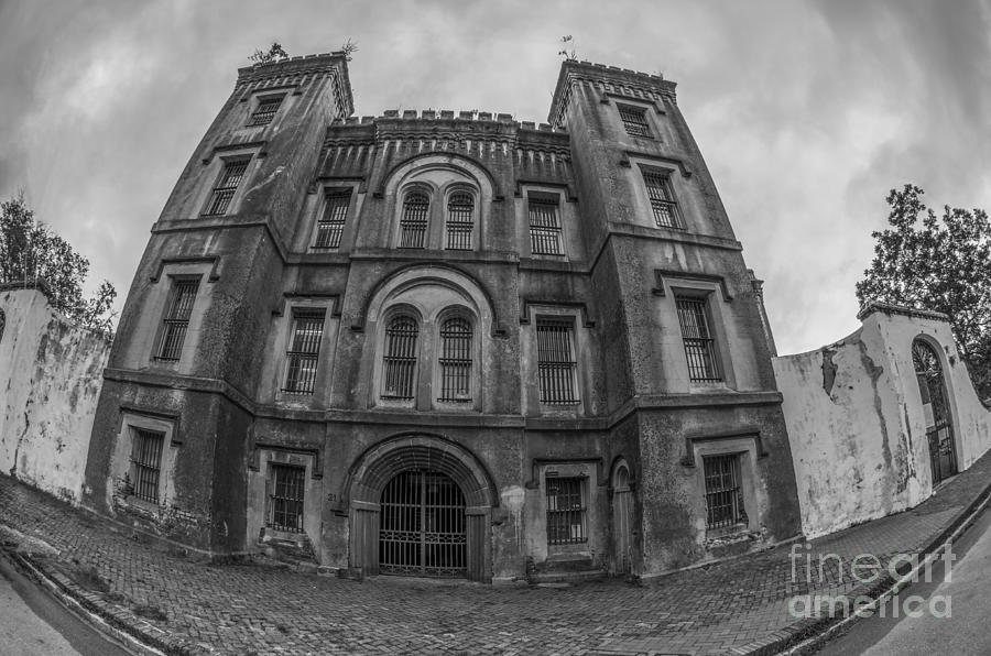 Old City Jail In Fish Eye Photograph