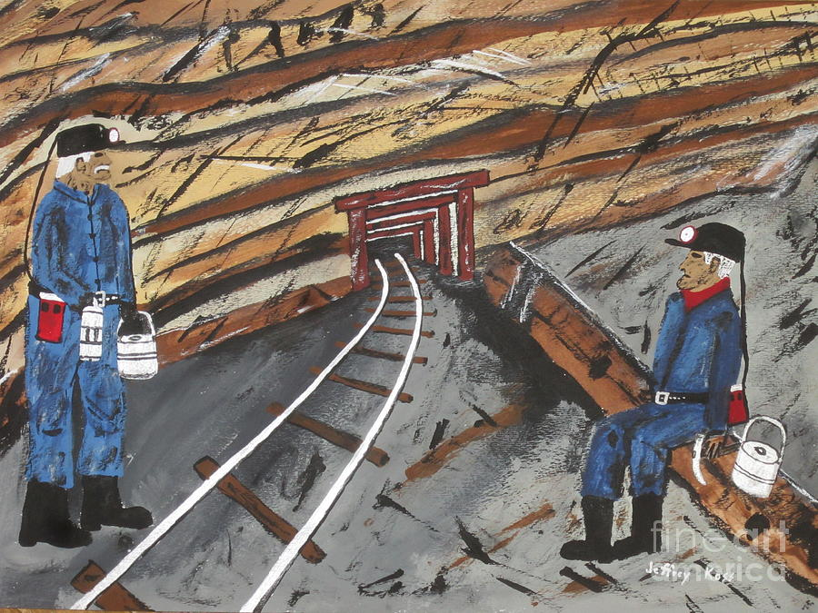 Old Coalminers Painting