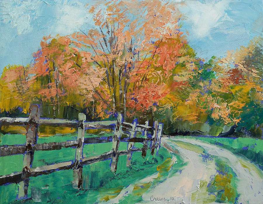 Old Country Road Painting By Michael Creese