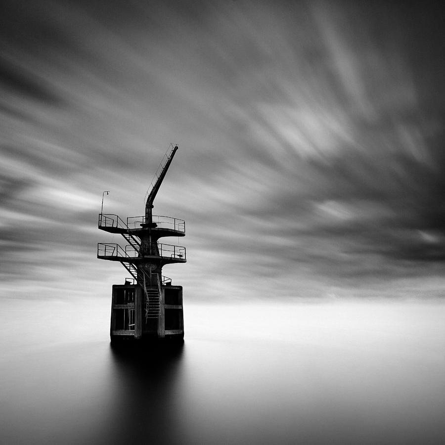 Cargo Crane Photograph - Old Crane by Dave Bowman