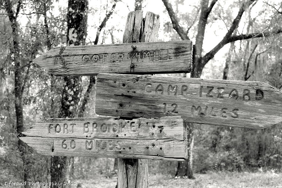 Old Directional Signs At Fort Cooper  Photograph  - Old Directional Signs At Fort Cooper  Fine Art Print