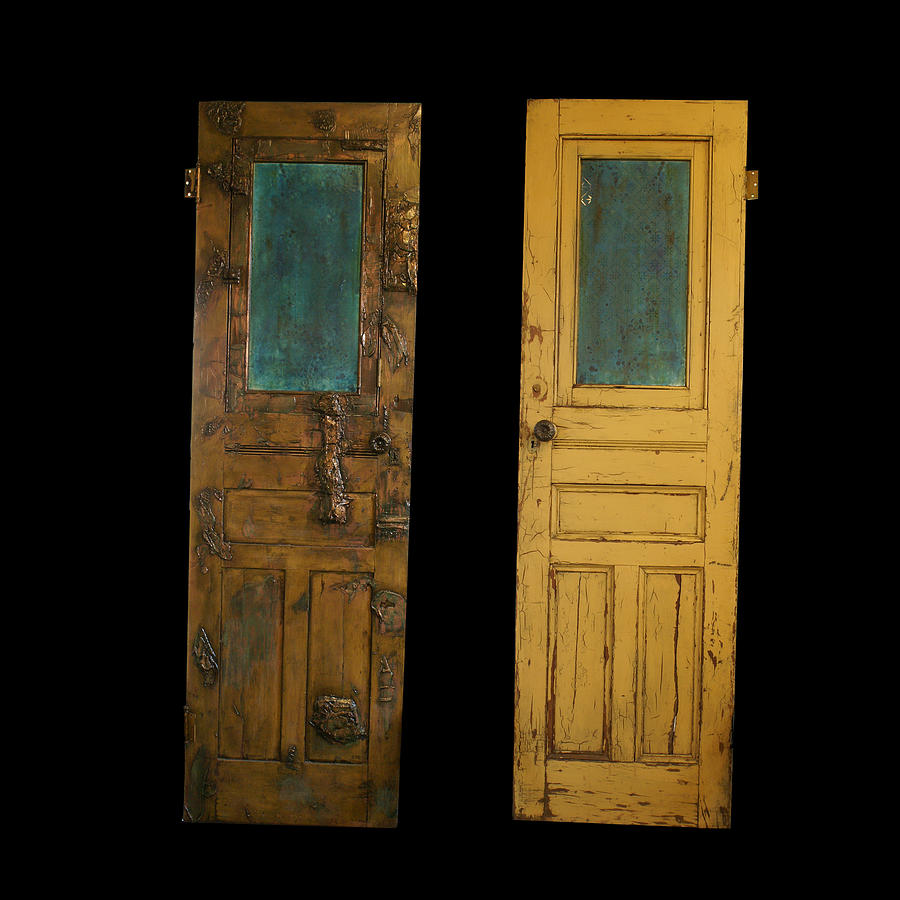 Old Door Sculpture  - Old Door Fine Art Print