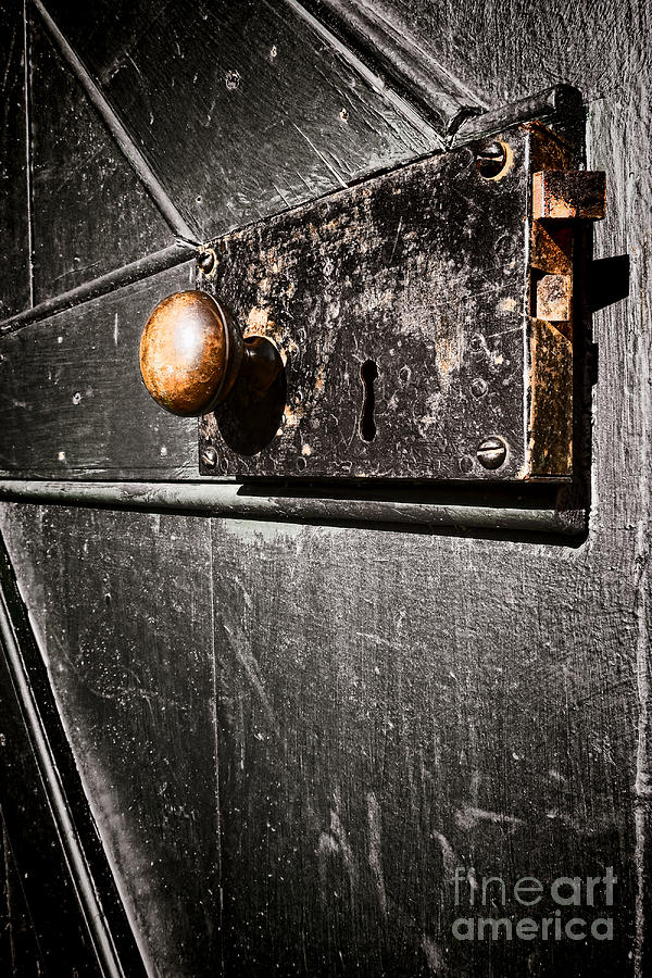 Old Door Lock Photograph  - Old Door Lock Fine Art Print