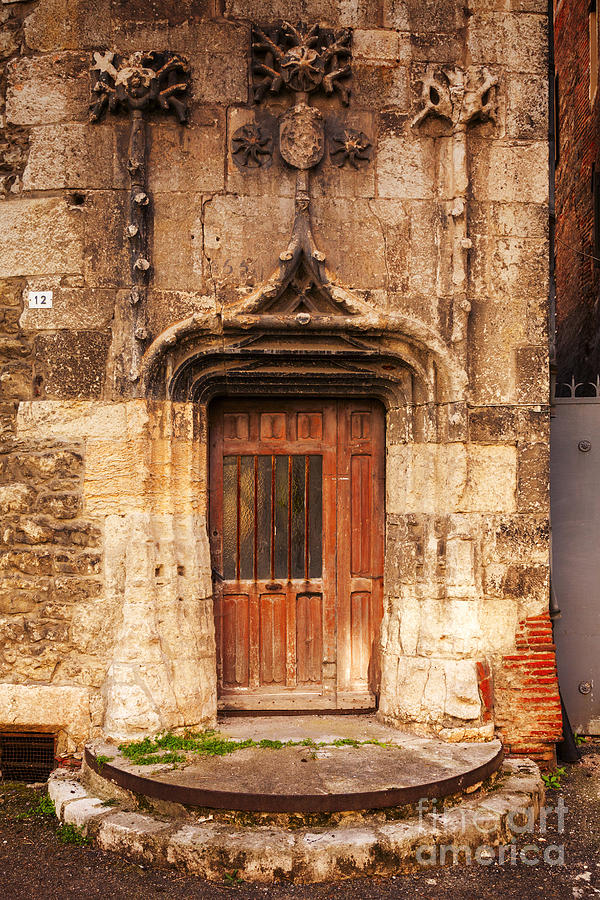 Old Doorway Cahors France Photograph