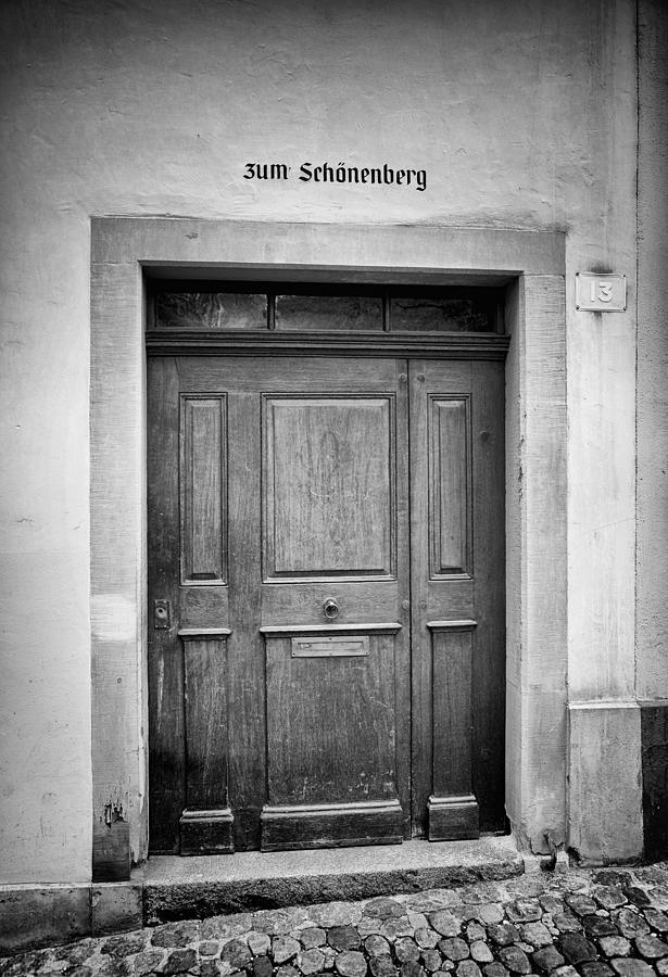 Old European Door Photograph By James Bethanis