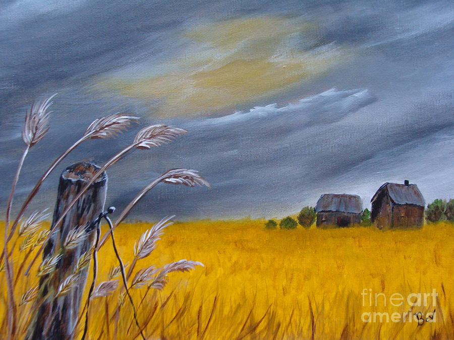 Old Farm 1 Painting  - Old Farm 1 Fine Art Print