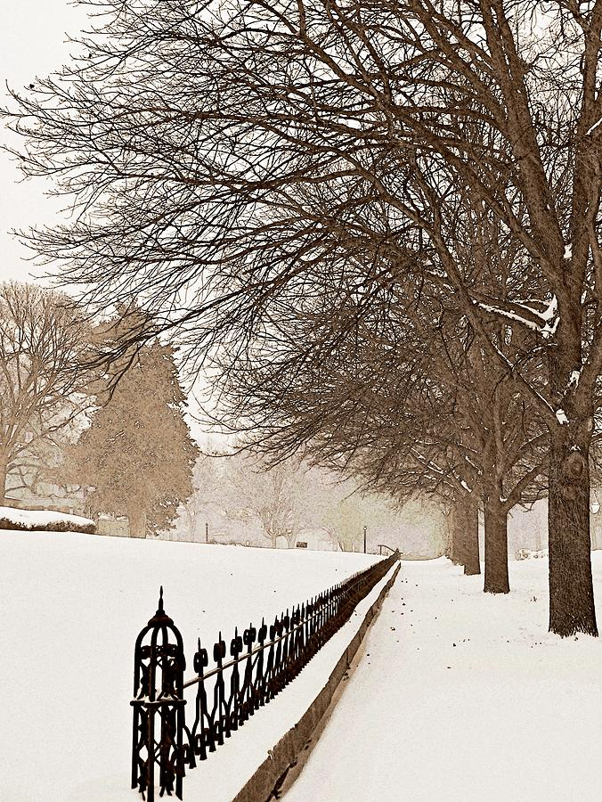 Old Fashioned Winter Photograph